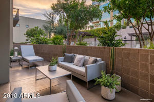 Unbelievable Outdoor Living Space! Courtyard extends the length of the home. You can hear the bagpipes from the Westin Kierland Resort every night!! Such a peaceful quiet location here.