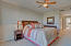 Generous room with ample area for sitting room, closet separate from bedroom and bath room