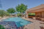 Covered Patio and outdoor seating at Skye Top community pool