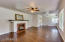 Family Room with original 1948 Hardwood Floors fully Re-Conditioned.