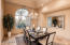 Spacious and bright formal dining area off of the formal living room, great for entertainment.