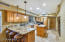 This kitchen also has a breakfast counter great for gathering or doing homework while cooking dinner.