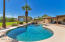 Large pebble tec diving pool is great for entertaining your swimmers