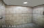 Newly tiled master walkin shower