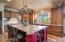 S/S Dacor appliances and custom cabinetry in this efficient kitchen