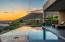 Sunset and pool