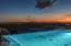 Night pool and sunset