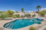 Desired privacy in your pristine Pebble Tec pool & play area...
