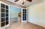 doors open to living room