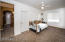 Large bedroom with expansive walkin closet.