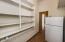 Oversized pantry slash storage closet within casita