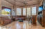 Spacious family room with mountain views