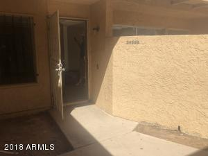 1036 SF townhome has a front patio and security door!
