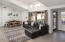 Vaulted ceilings, functional defined spaces perfect for gathering