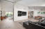 Art & Media walls in this sleek, calm space