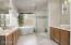 Radiant heated floors, soaking tub