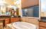 Soaking tub.