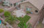 Overhead view of back yard
