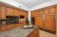Kitchen Island with Sub Zero fridge