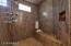 Walk-in shower and Sauna