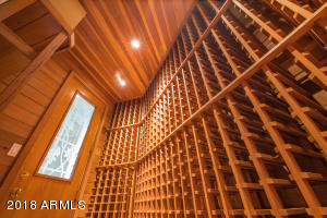 Inside 1,000 bottle Temperature controlled Wine Cellar