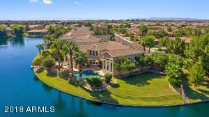 Unique water front property aerial view.