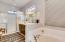 Lovely full master bath with large shower