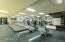Aerobic machines, courts, and classes are available in the fitness area. Memberships are optional