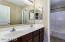 Upstairs bathroom with separate door to toilet/shower