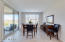 Cafe/dinning room with easy access to covered patio making home great for entertaining.