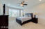 Master Suite features bay window, ceiling fan and upgraded neutral carpet.