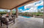 Large travertine patio