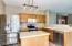 Newer appliances and designer lighting