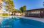 Pool and gazebo surrounded by courtyard and private mountain top views