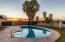 Sunset from the pool: entertain, enjoy, enticing!