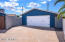 Detached 2 car garage is currently being used as a workshop and can be potentially converted into a casita.