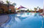 One of the beautiful pools, this beach entry pool provides fun in the sun.
