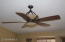 One of four ceiling fans