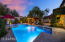 The LED pool lights provide such a magical feeling in this backyard.