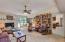 Family Room - Fireplace and custom bookshelves