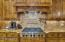 Awesome Wolf Gas Stove with Bread Warming Drawer Below.