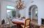 Formal Dining Room with Beautiful Chandelier and Built In Wine Refrigerator