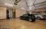 Oversized 3 Car Garage with Built In Storage and Slot Wall Organization System