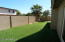 New Block Wall w. Fresh Paint Replaced Wooden Fences. 2013 Artificial ($2374) Grass