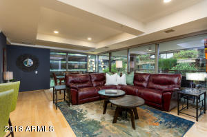Welcome to this absolutely breathtaking Optima Camelview 5th floor 3 bedroom 2 bath 2064sqft condo. This must-see unit boasts a spacious open floor plan with upgraded finishes everywhere you look. Phenomenal 5th floor views from every room. Two remodeled patio/terraces and a Huge master suite. Automated blinds through-out. Do not miss out on this wonderful unit. It will not last long. All found within the luxurious Optima Camelview Village featuring Luxury Lifestyle Living with concierge, gated parking, 24000sqft Fitness Center, Locker/Steam room, Indoor Pool & Spa, 2 Outdoor Zen Pools & Spa, Racquetball/Basketball courts, putting green & more! Located in the heart of Downtown Scottsdale with more restaurants and activities than you will know what to do with. Set up a showing today