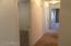 Hallway to 4 bedrooms