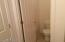 Separate toilet room in master bath