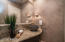 Custom Elements in this Powder Room