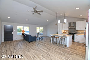 Old town Scottsdale with a NEW Build feel! Tastefully updated throughout, contemporary with vaulted ceilings, high windows,
