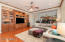 Family room with gorgeous built-in cabinetry